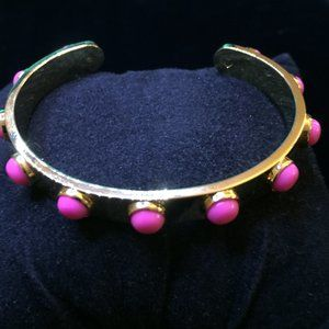 Kate Spade Pink Tag Along Stackable Cuff Bracelet